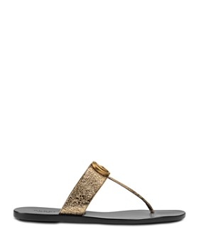 Gucci - Women's Marmont Leather Thong Sandals