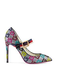 Gucci - Women's Sylvie Velvet G Mary Jane Pumps