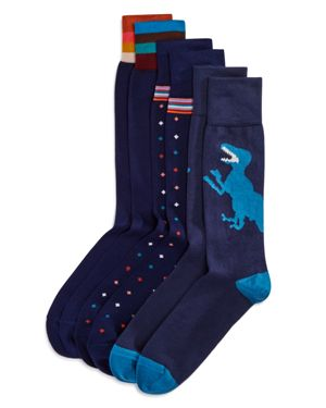 Paul Smith Navy Assorted Socks, Pack of 3 - 100% Exclusive
