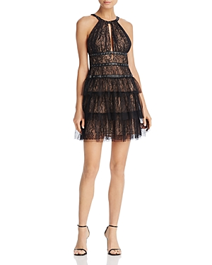 Bcbgmaxazria Grommet-Detail Lace Dress