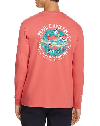 vineyard vines christmas mahi crewneck long sleeve tee