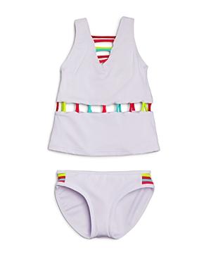 Piexoto Girls' Neon Cutout Tankini - Little Kid, Big Kid