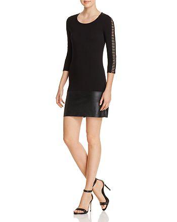 Bailey 44 - Kendo Faux Leather-Hem Dress