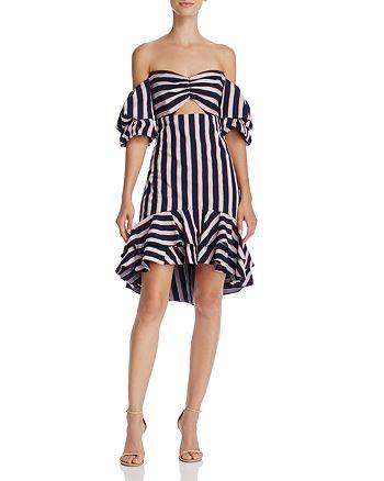 WAYF - Korbin Striped Off-the-Shoulder Dress - 100% Exclusive