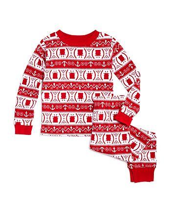 ame x spongebob red girls spongebob fair isle pajama set little