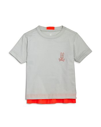 Psycho Bunny - Boys' Neon-Trim Tee - Little Kid, Big Kid
