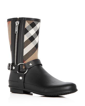 Burberry - Women's Zane Signature Check Rain Boots