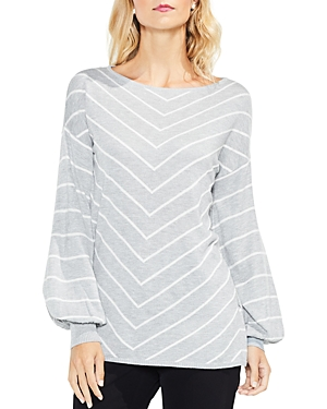 Vince Camuto Chevron Stripe Bishop Sleeve Sweater