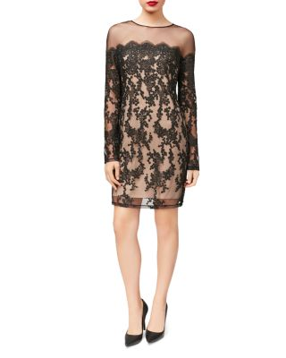 $Betsey Johnson Illusion Lace Sheath Dress - Bloomingdale's