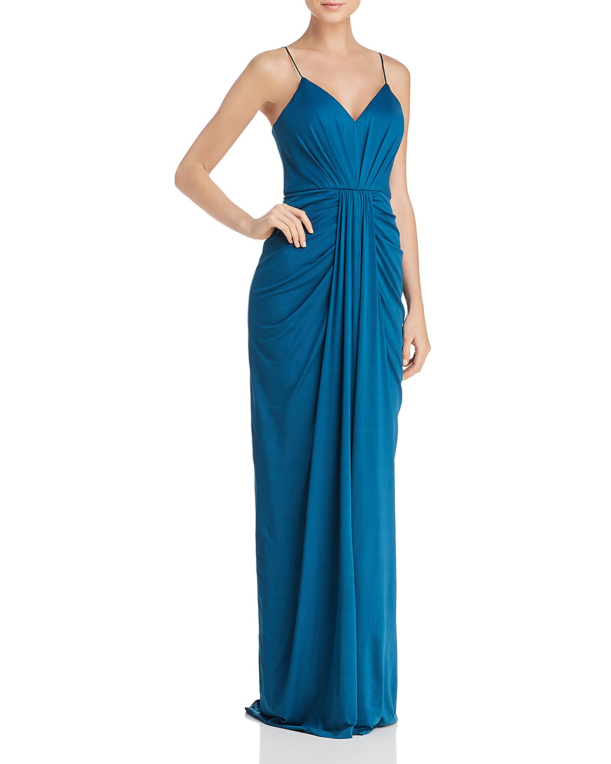 Bariano V-Neck Draped Gown - 100% Exclusive   Bloomingdale\'s