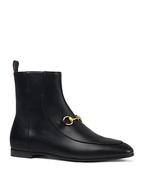 Gucci - Women's New Jordaan Leather Chelsea Booties