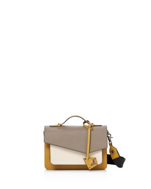 COBBLE HILL LEATHER CROSSBODY BAG - BROWN