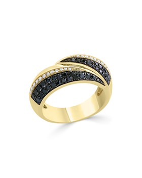 Bloomingdale's - Black & White Diamond Band in 14K Yellow Gold - 100% Exclusive