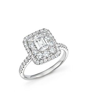 Bloomingdale's - Emerald-Cut Diamond Engagement Ring in 14K White Gold, 2.0 ct. t.w.- 100% Exclusive