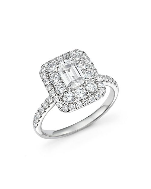 Bloomingdale's - Emerald-Cut Diamond Engagement Ring in 14K White Gold, 2.0 ct. t.w. - 100% Exclusive