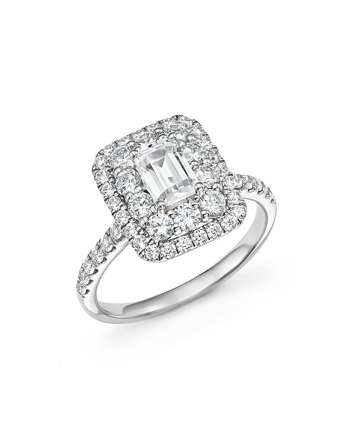 Bloomingdale S Emerald Cut Diamond Engagement Ring In 14k White