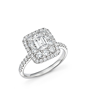 Bloomingdale's Emerald-Cut Diamond Engagement Ring in 14K White Gold, 2.0 ct. t.w- 100% Exclusive