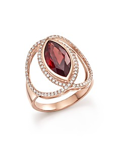 Bloomingdale's - Rhodolite Garnet & Diamond Statement Ring in 14K Rose Gold - 100% Exclusive