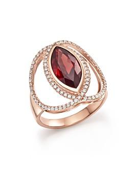 Bloomingdale's - Rhodolite Garnet & Diamond Statement Ring in 14K Rose Gold - 100% Exclusive