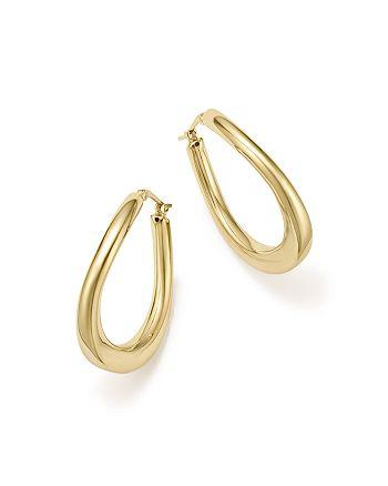 Bloomingdale's - 14K Yellow Gold Off-Set Hoop Earrings - 100% Exclusive
