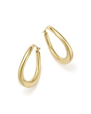 Bloomingdale's 14K Yellow Gold Off-Set Hoop Earrings - 100% Exclusive