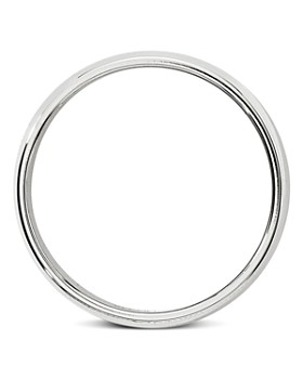 Bloomingdale's - Men's 6mm Half-Round Milgrain Band in 14K White Gold - 100% Exclusive