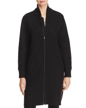Eileen Fisher Petites Wool Bomber Coat
