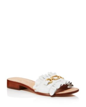 Kate Spade New York Women's Beau Leather Slide Sandals