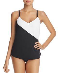 ca26648b876 Miraclesuit Between the Pleats Cadiz Tankini Top & Basic Bikini ...