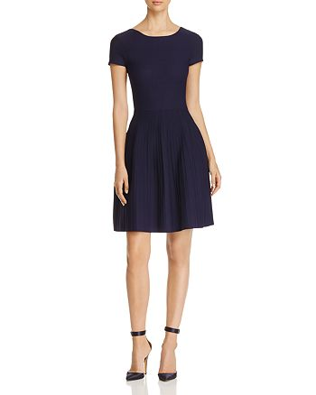 Armani - Mesh Ribbed A-Line Dress