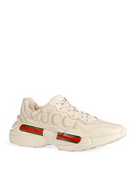 Gucci - Men's Rhyton Vintage Stripe Logo Sneakers