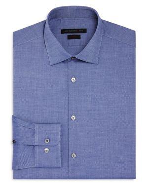 John Varvatos Star Usa Cross Twill Slim Fit Stretch Dress Shirt