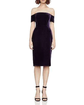 $BCBGMAXAZRIA Off-the-Shoulder Velvet Dress - Bloomingdale's