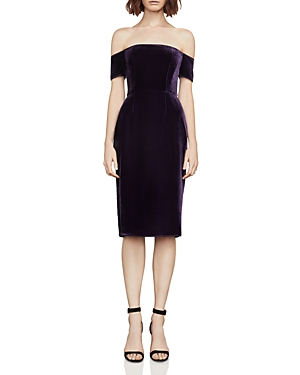 Bcbgmaxazria Off-the-Shoulder Velvet Dress