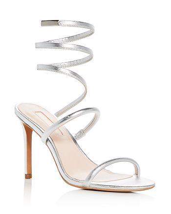 Avec Les Filles - Women's Joia Leather Ankle Wrap High-Heel Sandals