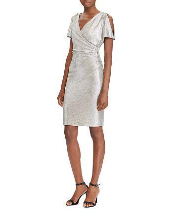 Ralph Lauren - Metallic Cold-Shoulder Dress