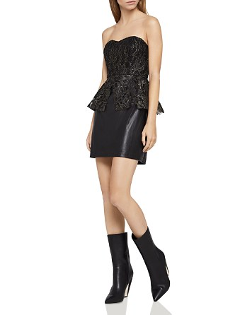$BCBGeneration Mixed Media Strapless Dress - Bloomingdale's