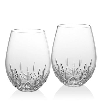 Waterford - Lismore Nouveau Deep Red Glass, Set of 2