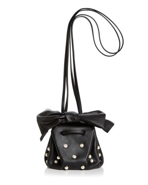 Zac Zac Posen Soiree Faux-Pearl Leather Crossbody