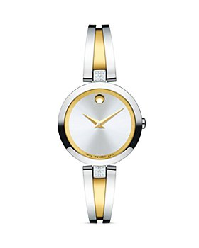Movado - Aleena Diamond Two-Tone Watch, 27mm
