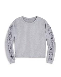 AQUA Girls' Ruffled Sweatshirt, Big Kid - 100% Exclusive - Bloomingdale's_0