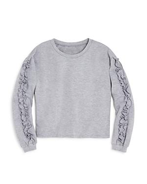 Aqua Girls Ruffled Sweatshirt Big Kid  100 Exclusive