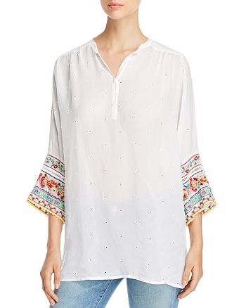 Johnny Was Collection - Embellished Tunic Top
