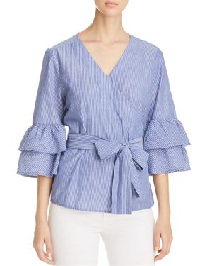 BEACHLUNCHLOUNGE BELL SLEEVE WRAP TOP