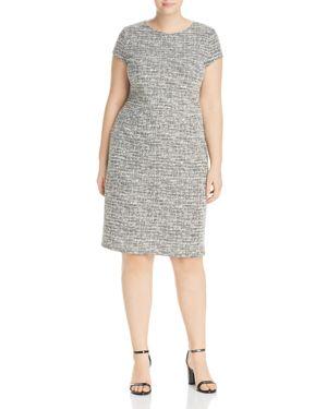 Love Ady Plus Metallic Tweed Body-Con Dress