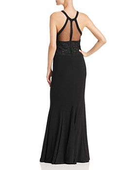 Avery G - Mesh-Detail Gown