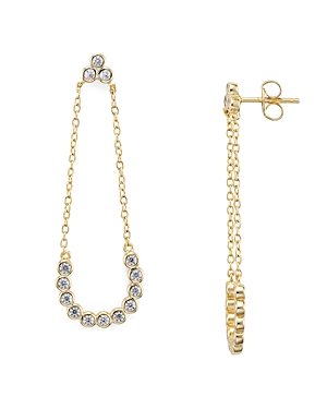 Aqua Sterling Chain Drop Earrings - 100% Exclusive