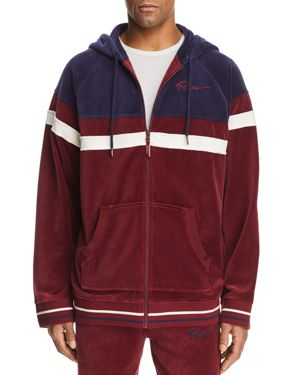 Velour Hooded Track Jacket