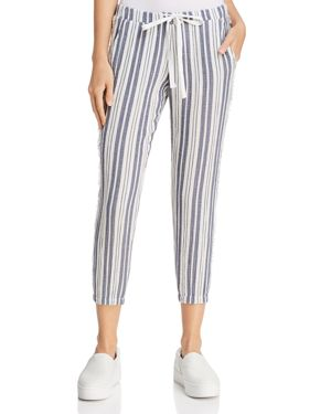 Bella Dahl Fringed-Side Striped Joggers