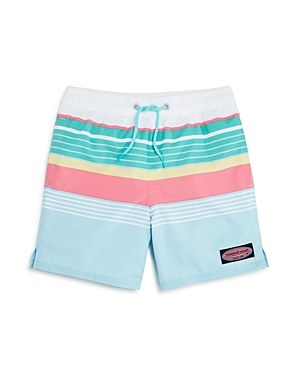 Vineyard Vines Boys MultiStripe Swim Trunks  Little Kid